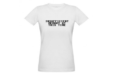 Insufficient memory at this time Organic Women's T Geek Organic Women's T-Shirt by CafePress