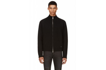 Dsquared2 Black Knit Zip up Cardigan