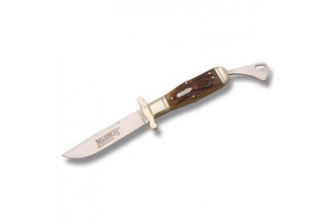 Marble's Safety Folder with Brown Stag Bone Handle