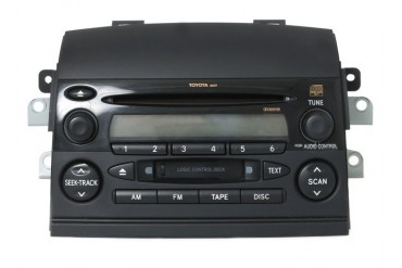 2004-2005 Toyota Sienna AM FM Radio Cassette CD Player 8620AE010 Face 16839