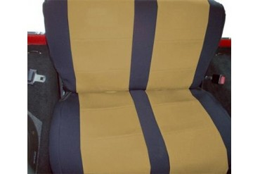 Coverking Black and Tan Neoprene Rear Seat Cover  SPC172 Seat Cover