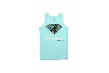 Mens Diamond Supply Co Tank Tops - Diamond Supply Co Floral Script Logo Tank Top