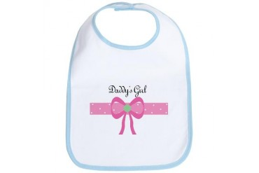 Daddy's Girl Baby New baby Bib by CafePress