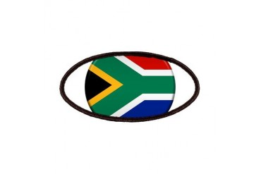 South African Button Flag Patches by CafePress