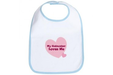 My Godmother Loves Me Family Bib by CafePress