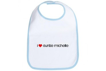 I Love Auntie Michelle Love Bib by CafePress