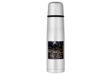 Claude Monet Water Lilies Large Thermos Bottle Vintage Large Thermosreg; Bottle by CafePress