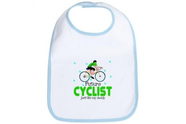 Future Cyclist like Daddy Baby Infant Toddler Bib
