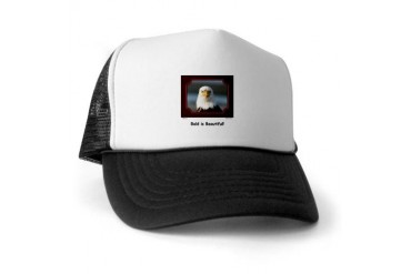 Bald is Beautiful Eagle Funny Trucker Hat by CafePress