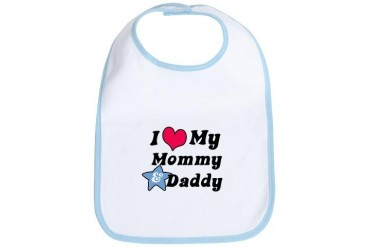 I Love My Mommy and Daddy Bib