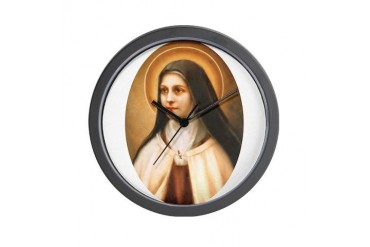 Saint Therese of Lisieux Easter Wall Clock by CafePress