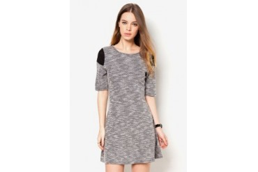 Something Borrowed Knitted Mesh Dress