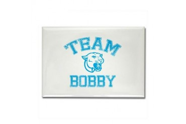 Team Bobby Funny Rectangle Magnet by CafePress