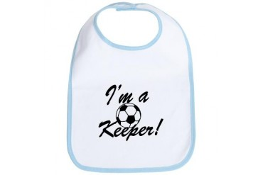 Im a Keeper Blk Soccer Bib by CafePress