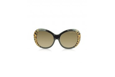 Full Moon 734S 05G Brown Leopard and Black Women's Sunglasses