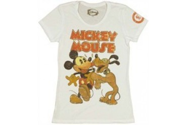 Disney Mickey Pluto Lick Baby Doll Tee by MIGHTY FINE