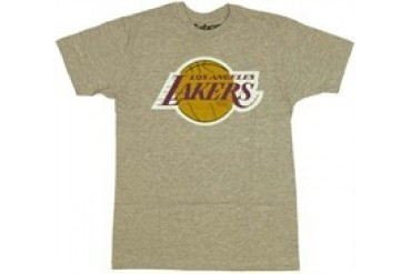 National Basketball Association Los Angeles Lakers 1985 Logo T-Shirt Sheer by MIGHTY FINE