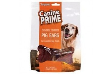 Sergeant S Pig Ear Halves 5-Count Dog Treat