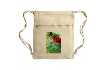 Beautiful Flower Sack Pack Art Cinch Sack by CafePress