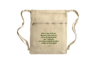peace Sack Pack Art Cinch Sack by CafePress