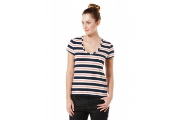 Original Penguin YARN DYED STRIPED SCOOP NECK