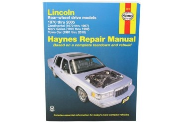 1988-1997 Lincoln Continental Manual Haynes Lincoln Manual 59010 88 89 90 91 92 93 94 95 96 97