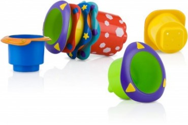 Nuby 5-Pack Splish Splash Stacking Cups (pack Of 24)