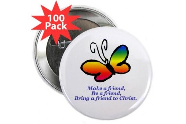 Cursillo Butterfly Butterfly 2.25 Button 100 pack by CafePress