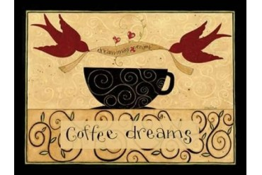 Coffee Makes Me Fly Poster Print by Dan DiPaolo (18 x 24)