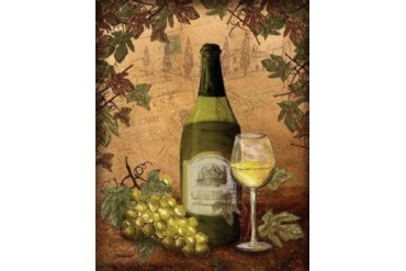 White Wine Poster Print by Todd Williams (11 x 14)