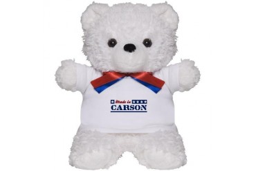 Made in Carson California Teddy Bear by CafePress