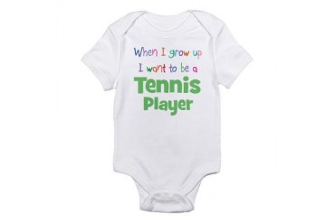 When I Grow Up Tennis Infant Bodysuit