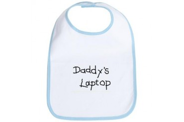 DADDY'S LAPTOP - Baby Bib by CafePress
