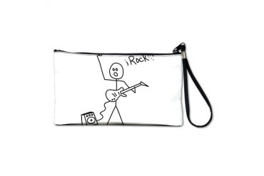 iRock Stick Man with Bald Man Plays Electric Guita Guitar Clutch Bag by CafePress