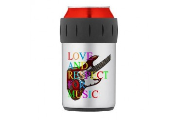 bass2 Thermos Can Cooler Music Thermosreg; Can Cooler by CafePress