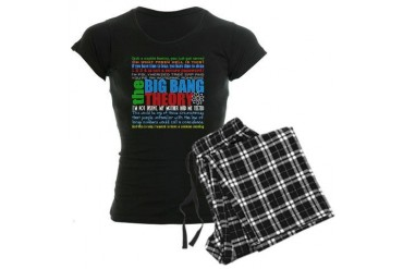 Big Bang Quote Collage Women's Dark Pajamas