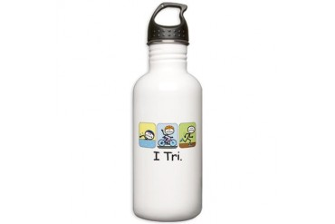 Triathlon Stick Figure Stainless Water Bottle 1.0L