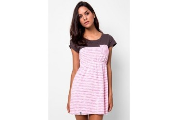 Heath Dress Knit Solid Comb Stripe