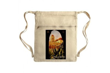 Palermo, Sicily Sack Pack Italian Cinch Sack by CafePress