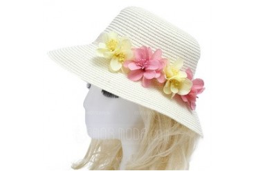 Simple Imported Paper/Rattan Straw Hats (042052546)