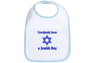 Everybody Loves a Jewish Boy Jewish Bib by CafePress
