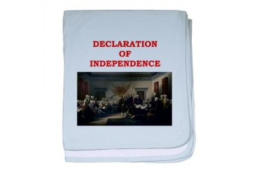 declaration of independence Art baby blanket by CafePress