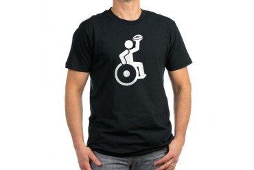 Wheelchair Rugby Sports Men's Fitted T-Shirt dark by CafePress