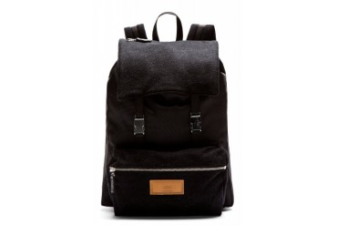 Ami Alexandre Mattiussi Black Wool Panel Backpack