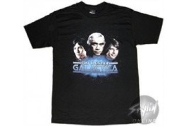 Battlestar Galactica Apollo Starbuck and Adama Trio T-Shirt
