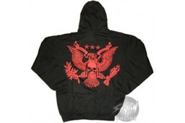 American Fighter Eagle Full Zipper Hooded Sweatshirt