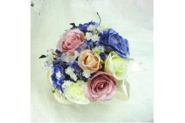 Refined Round Artificial Silk Bridesmaid Bouquets (123048081)