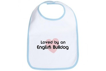 Loved by a English Bulldog Dog Bib by CafePress