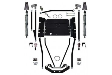 Rock Krawler 7 Inch X Factor Plus Comp Coil Over Stretch Long Arm Lift Kit YJ93001 Complete Suspension Systems and Lift Kits