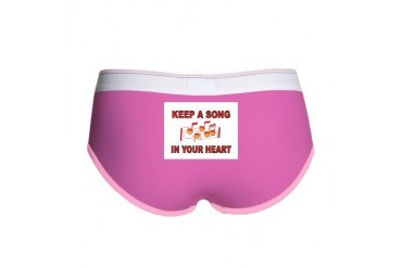 HEART SONG Music Women's Boy Brief by CafePress